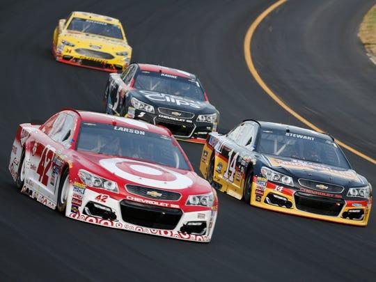 NASCAR Sprint Cup Series driver Tony Stewart (14),