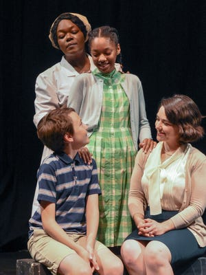 """Black Theatre Troupe's """"Caroline, or Change"""" features (from left) Noah McNeil, Jennifer Robinson, Zion Russell and Brandi Bigley."""