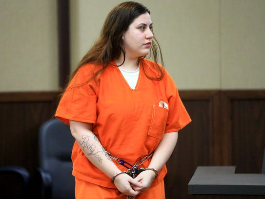 Christina Trevino attends her pretrial hearing in the