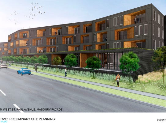 This rendering shows one possible design for two recently
