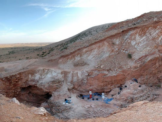 The Oct. 15, 2009 photo  shows the Jebel Irhoud site