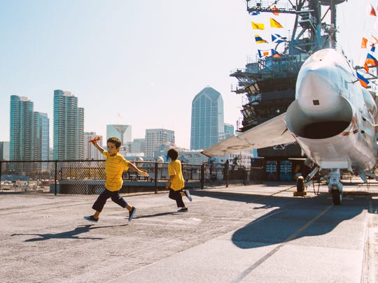Stop and chat with a veteran at the aircraft-carrier