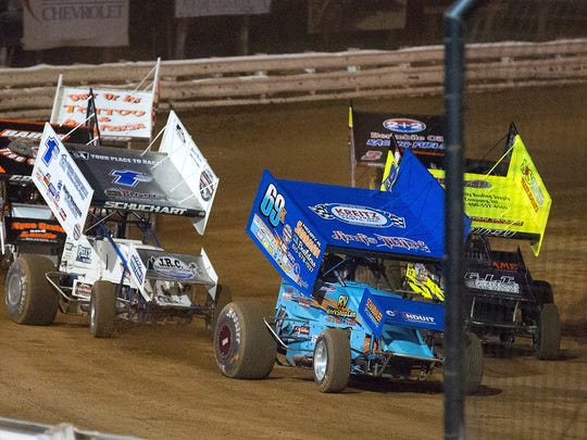 Lance Dewease (69K) won this 410 Sprint heat race and the feature against the World of Outlaws at Williams Grove Speedway in May. Lance Dewease (69K) won this 410 Sprint heat race and the feature against the World of Outlaws at Williams Grove Speedway in May.