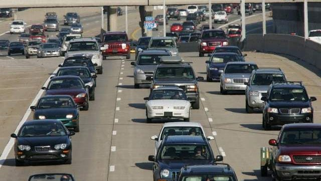 File photo of traffic on westbound I-696 in the metro Detroit area.