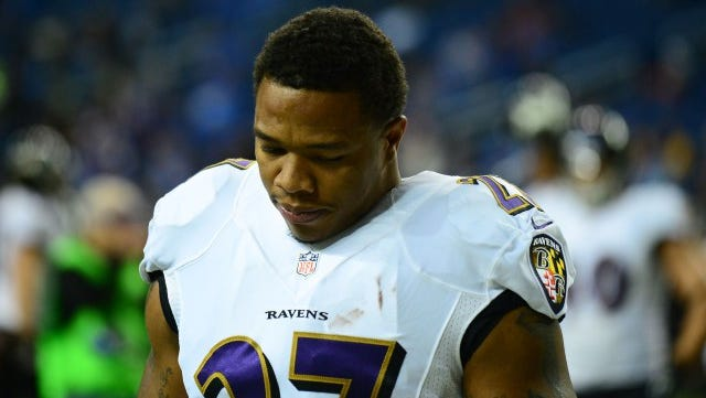 Baltimore Ravens running back Ray Rice