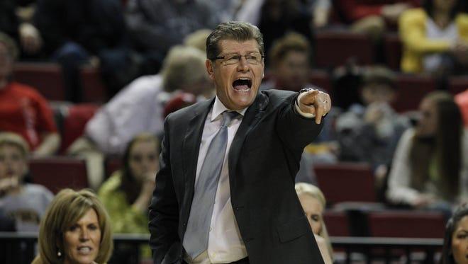 Connecticut coach Geno Auriemma.