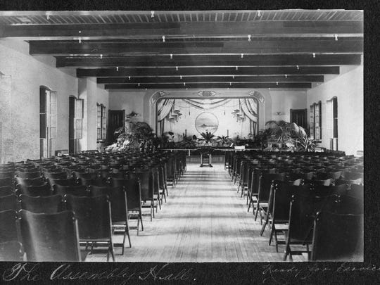 In its early years, the Richmond State Hospital had an orchestra that performed in this assembly hall.