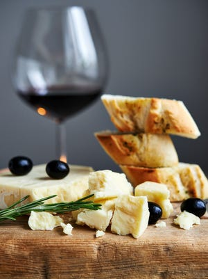 Pair wine and cheese for a great appetizer.