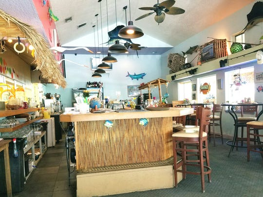 The inside of Flash Beach Grille in Hobe Sound has