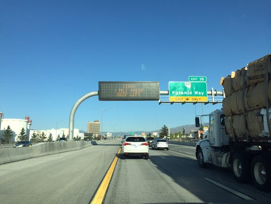 Accidents delay traffic on I-80, North McCarran Boulevard