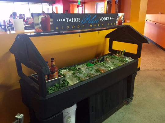 """Men Wielding Fire features a """"build your own"""" Bloody Mary Bar. The first order is $9, but every return drink is $7 each."""