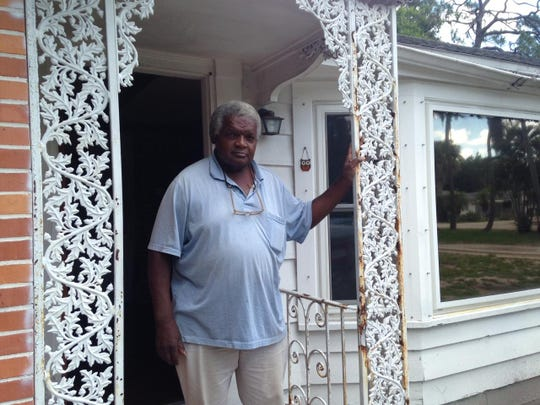 Joseph Barrett, staying at this Maple Avenue transitional home, found himself without appliances or even a bed Monday when Jeff Schaller, president of The Lighthouse Fort Myers, the service that used to operate the home but was evicted for defaulting on the lease, removed service property.