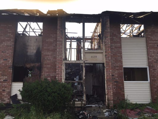 Nye vacant apartment fire