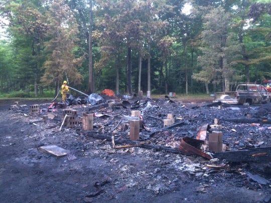 DCA 0711 Chambers Island fire 2