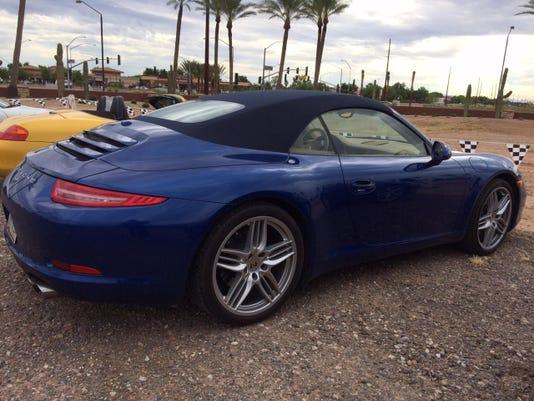 Porsche car at Chandler dealership's groundbreaking