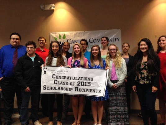 2015 CCF Scholarship Recipients at Banquet