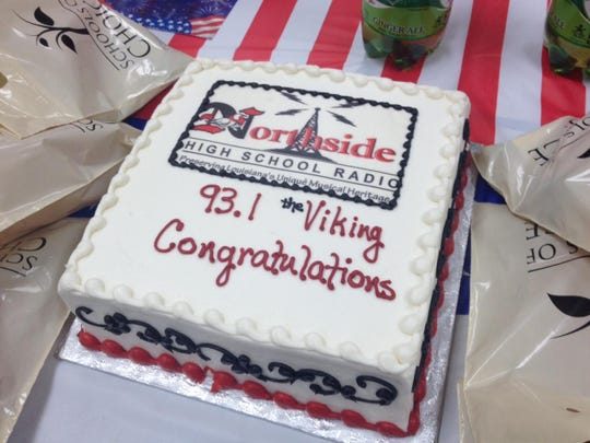 Northside High celebrated the on-air launch of its radio station Thursday with a ceremony at the school.