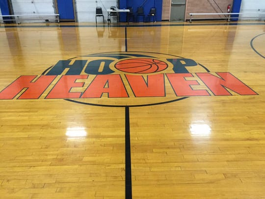 One of the courts at Hoop Heaven