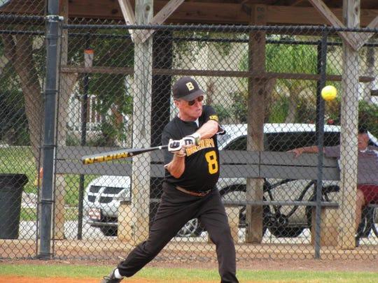 Marco's extremly popular senior softball season gets into full swing. Hitting is Bill Kayhart.