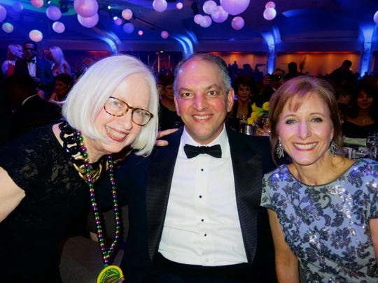 Maggie with Louisiana Gov. John Bel Edwards and wife Donna at Chairman's Dinner Dance.