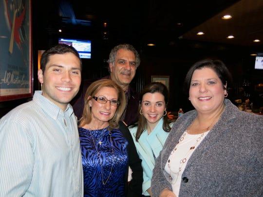 Dr. Rhett Kent, Denise and Bruce Busada, Dr. Caroline Rieger, Shannan Rieger at Washington Mardi Gras.
