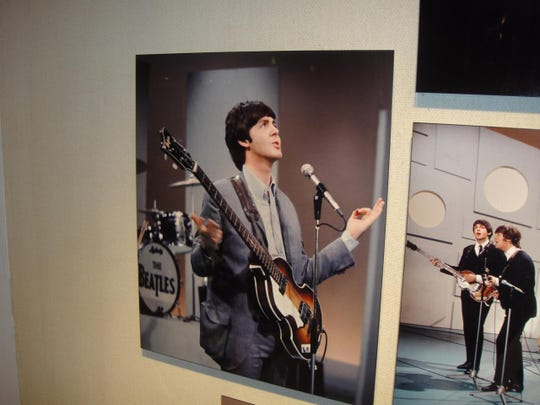 This photograph was taken of Paul McCartney during a rehearsal of the song Yesterday.