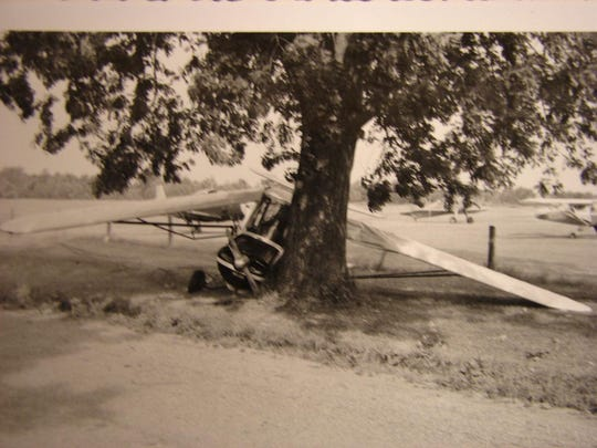 Aeronca7AC, N1701E, after incident in starting the aircraft at Champlain Airport on July 21, 1960.
