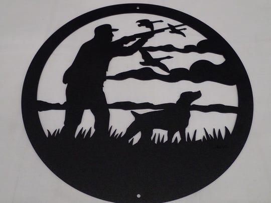 Native American metal art