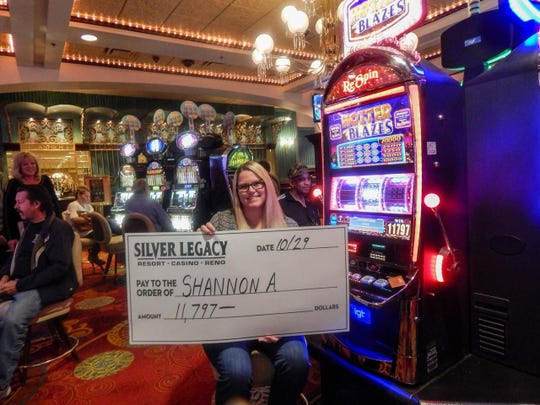 Shannon A. of Orange, California, won $11,797 on a Hotter Than Blazes machine at the Silver Legacy Resort Casino.