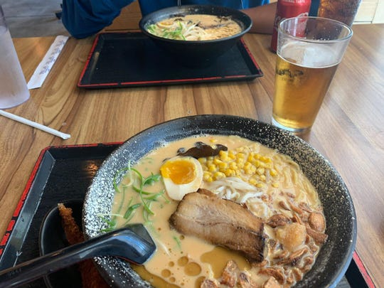 Ramen Hakata serves fresh noodles and a choice of deep, rich broths, each cooked for many hours to achieve maximum richness.