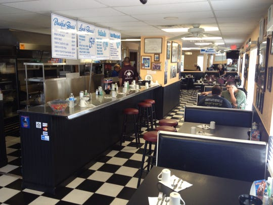 Checkered floors and simple booths give Marko's that classic diner feel.