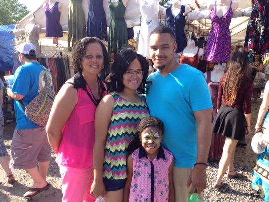 The Williams family rocks bright colors for Festival.