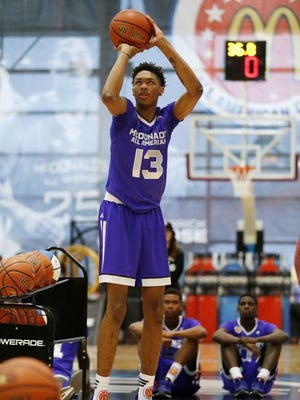McDonald's All American Brandon Ingram competed in the Powerade Jam Fest 3-point contest.