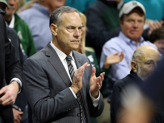 Michigan State Spartans football coach Mark Dantonio