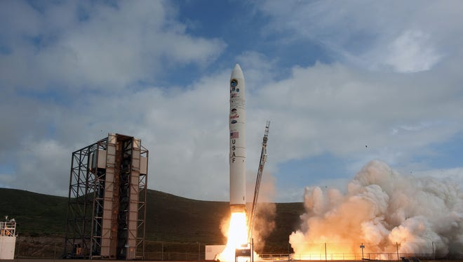A Minotaur IV Lite rocket launched from Vandenberg Air Force Base in California In April 2010.