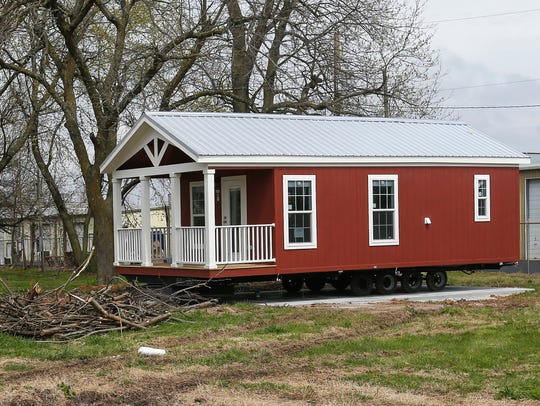 The first tiny house is in place at Eden Village on