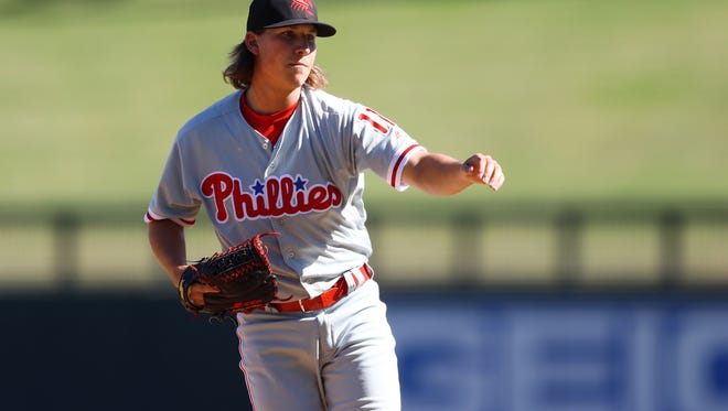 Phillies farmhand and Holy Cross grad Jeff Singer was promoted to Double-A Reading on Thursday.