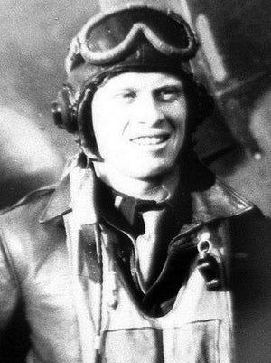 Bernie Borelli as a World War II Thunderbolt pilot.