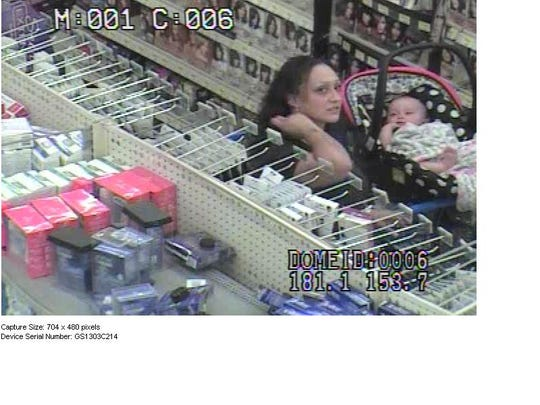 The two female suspects brought a baby with them while they stole makeup from a north Tucson Walmart, officials said.