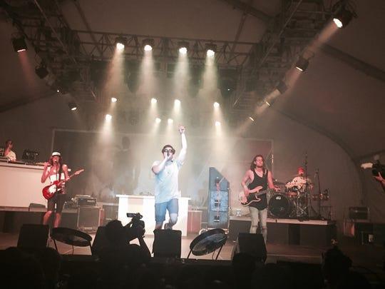 Hoodie Allen performs at Guam Live International Music Festival.