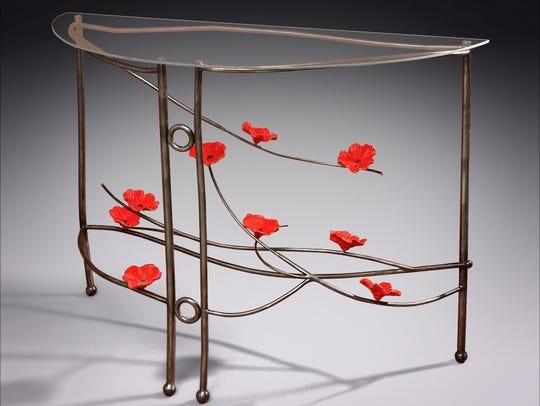 N.J. Searcy of Amado, Arizona, creates unique furniture.
