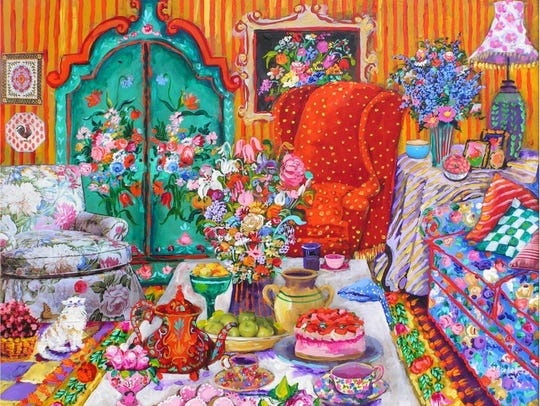 The work of Bonnie Siebert of Amarillo, Texas, will