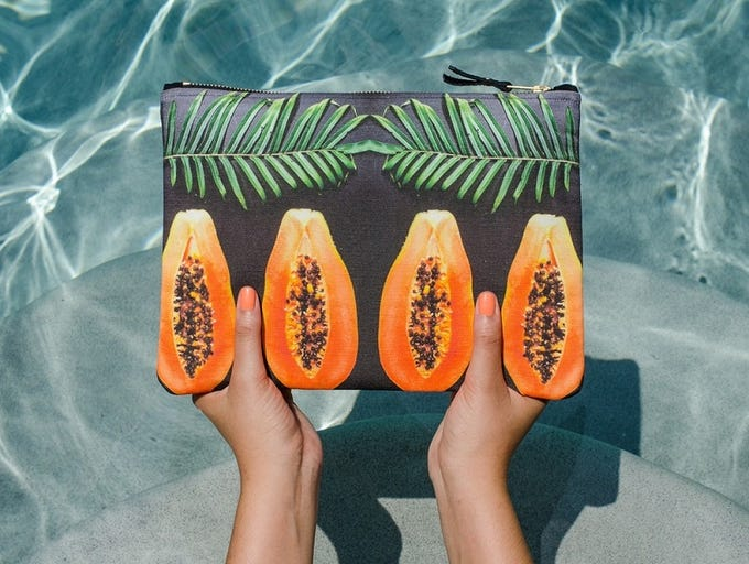 1. DVRA – Handbags inspired by all things tropical.