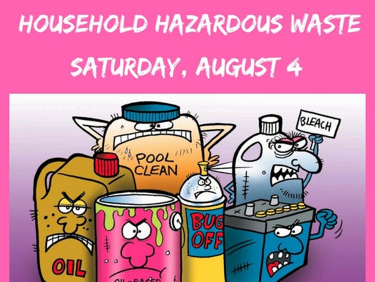 Free recycling event Aug. 4 PHOTO CAPTION
