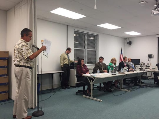 George Scott questioned the Brick Board of Education at the emergency meeting Wednesday.