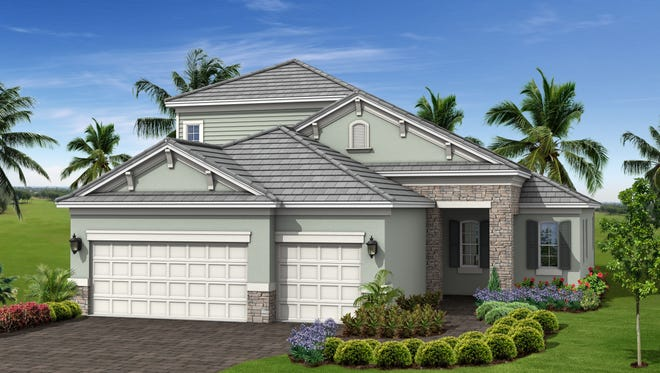 The Sea Star offers 2,379 square feet, three bedrooms, two baths and a three-car garage.