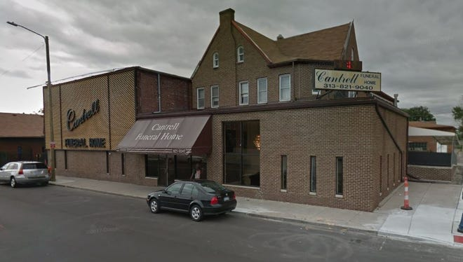 Cantrell Funeral Home, located at 10401 Mack Ave. in Detroit.