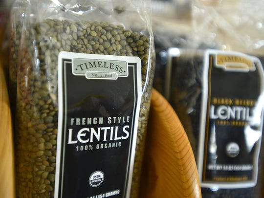 French Style Lentils organically grown by local farmers for the Timeless brand headquartered in Ulm.
