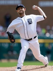 Tigers' Matt Boyd pitches against the Indians in the