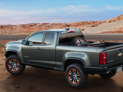 chevrolet rolls out off road colorado zr2 concept in la. Black Bedroom Furniture Sets. Home Design Ideas